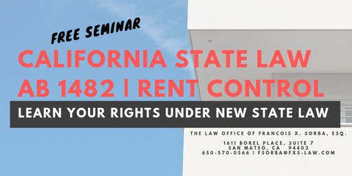Free State Rent Control (AB 1482) Law Seminar
