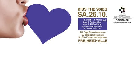 Kiss the 90ies - Münchens größte 90er Party im Oktober! Tickets