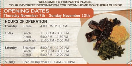 Pop-up Restaurant at COGIC Convention tickets