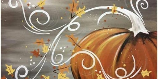 WHIMSICAL PUMPKIN PAINTING ON WOOD