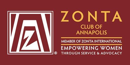 Zonta Club of Annapolis: Dinner Meeting, Guest Speaker Lynayn Mielke