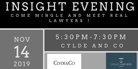 Insight Evening at Clyde&Co tickets
