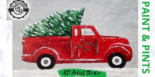 Paint & Pints - Truck & Tree - with AD Artist Studio