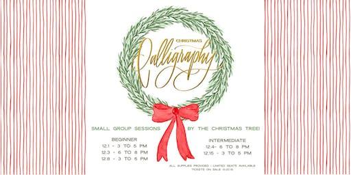 Christmas Calligraphy (Beginner)- Sunday, December 1