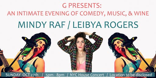 An Intimate Evening of Music & Comedy - Mindy Raf