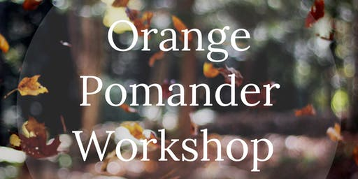 orange pomander workshop