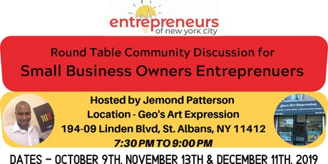 Open Discussion Round Table For Business Owners tickets