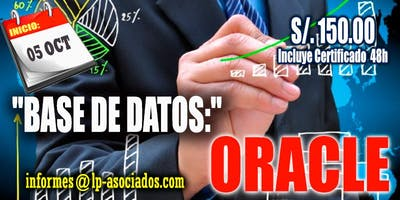 Fundamentos de Base de datos: ORACLE (S/. 150.00)