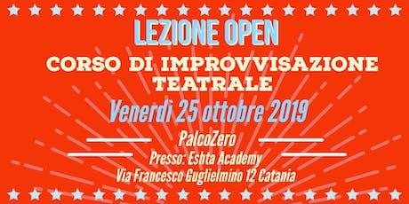 Lezione open corsi di improvvisazione teatrale  biglietti