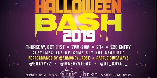 Club Echelon Official Halloween Bash presented by 9Rayz Ent.