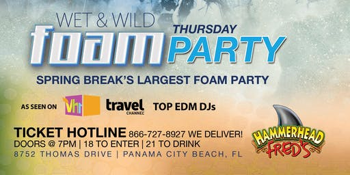 WET AND WILD FOAM PARTY 2020