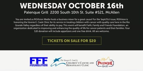 RGVision honoring Vannie E Cook  benefitting FFF foundation tickets