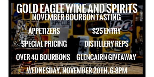Gold Eagle November Bourbon Tasting