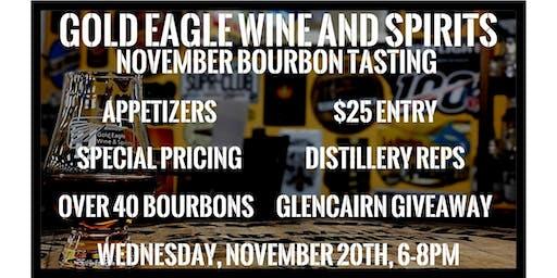 Gold Eagle November Bourbon Tasting