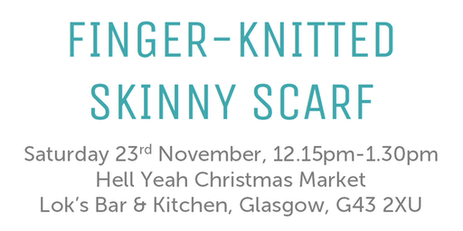 Finger Knit A Skinny Scarf