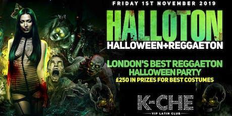 HALLOTON - Halloween + Reggaeton @ K-CHE Nightclub London - Friday 1/11/19 tickets
