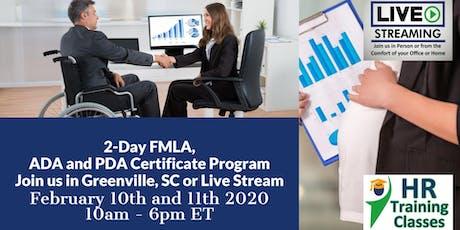2-Day FMLA, ADA and PDA Certificate Program(Starts 2-10-2020) tickets