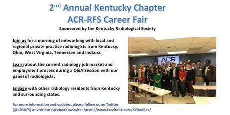 2nd Annual Kentucky Chapter ACR-RFS Career Fair tickets