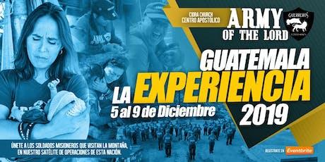 ARMY OF THE LORD GUATEMALA 2019/Escuela Evangelismo Sobrenatural e Invasión entradas