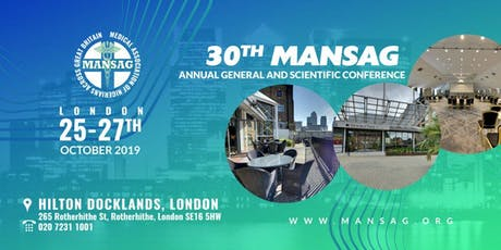 MANSAG ANNUAL SCIENTIFIC CONFERENCE & GALA DINNER tickets