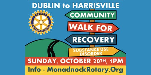 Monadnock Community Walk For Recovery Registration