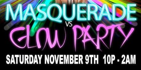 Masquerade vs Glow party tickets