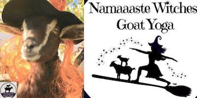Namaaaste Witches Goat Yoga Benefit 8am: Namaaaste Goat Yoga