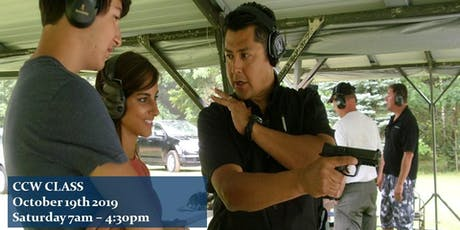 Concealed Pistol Training aka CCW Saturday October 19th 2019 7am $125 tickets
