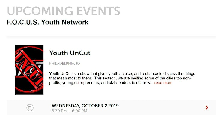 Opportunity for TC2 Youth to be interviewed on Youth UnCut @ La Salle Univ. image