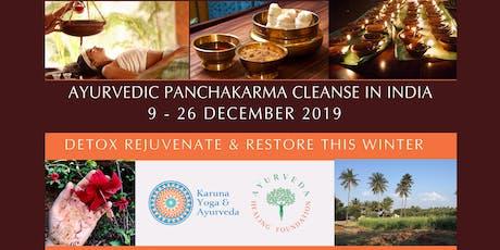AYURVEDIC PANCHAKARMA DETOX & CLEANSE IN INDIA - DECEMBER 2019 tickets