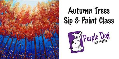 Autumn Trees Sip & Paint Class tickets