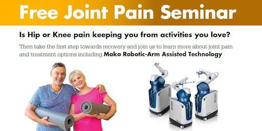 Free Joint Pain Seminar