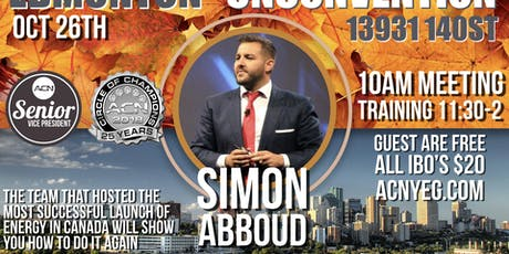 Edmonton Simon Abboud Event tickets