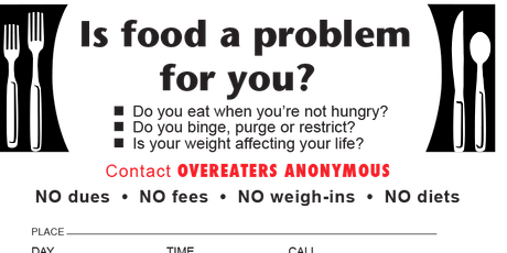 Overeaters Anonymous Meeting tickets