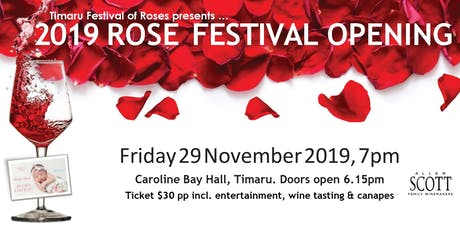 Rose Festival Opening Function and Wine Tasting with Allan Scott tickets