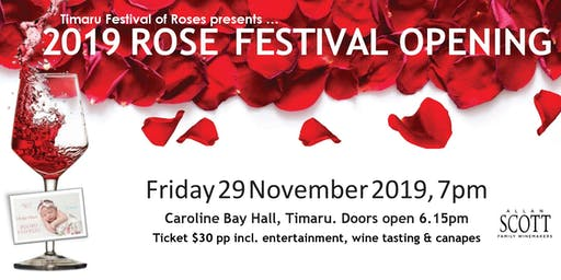 Rose Festival Opening Function and Wine Tasting with Allan Scott