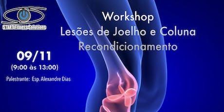 Workshop em Lesões de joelho e coluna - Retreinamento tickets