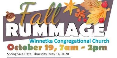 Winnetka Congregational Church FALL RUMMAGE SALE Sat, OCT 19th 7am-2pm