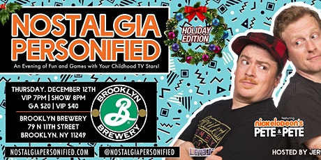 Nostalgia Personified Holiday Edition with Nickelo tickets