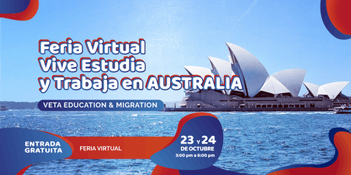 Feria Virtual: Vive, Estudia y Trabaja en Australia