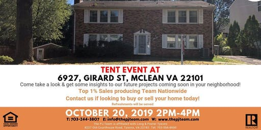 Tent Event in Mclean for our upcoming property