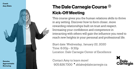 Dale Carnegie Course® - Kick-off (Mississauga) tickets