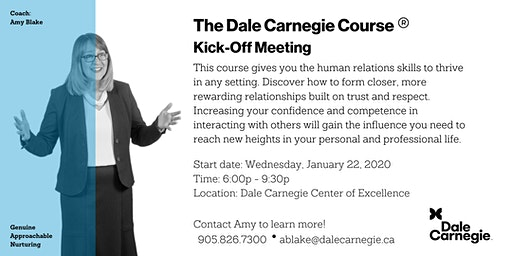 Dale Carnegie Course® - Kick-off (Mississauga)