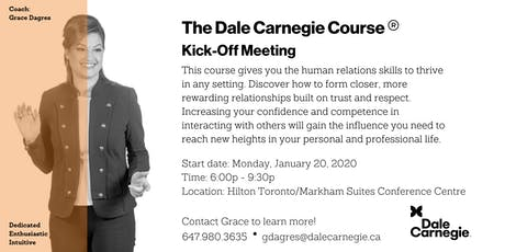 Dale Carnegie Course® - Kick-off (Markham) tickets