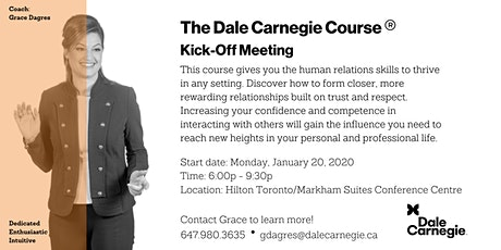 Dale Carnegie Course® - Kick-off (Markham) tickets
