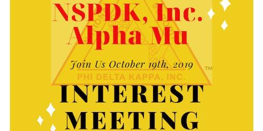 NSPDK Alpha Mu Interest Meeting