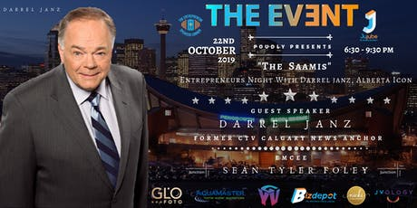 """""""THE SAAMIS"""" Entrepreneurs Night with Darrel Janz tickets"""