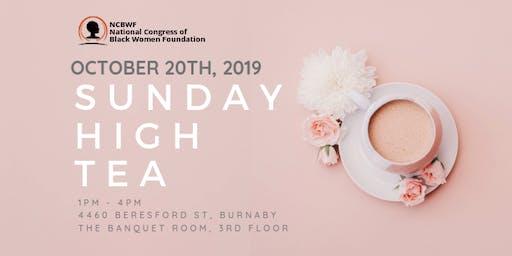 Sunday High Tea 2019 - Presented by The NCBWF