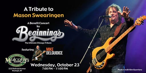 A Tribute to Mason Swearingen:  A Benefit by Beginnings  w/ Mike DelGuidice