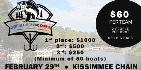 """2nd Annual """"Casting Lures For Cures """" tickets"""